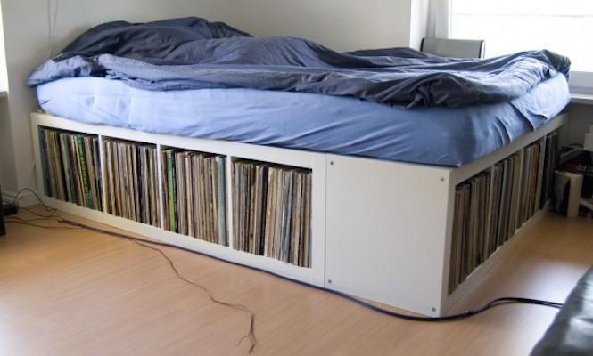 Letto Libreria Ikea : Sei splendide idee ikea per gli amanti dei vinili deer waves
