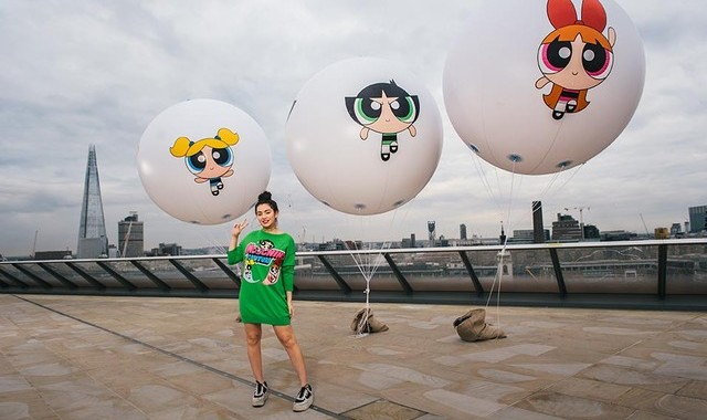 Monday 25th April 2016, St Paul's, London: Popstar and The Powerpuff Girls ambassador Charli XCX launches the new series which airs from 25 April, every week night on Cartoon Network. PR Handout - for more info: Call Gavin Lewis, Katy Ball or Don Ferguson at Hope & Glory PR on 020 7566 9747 Copyright: © Mikael Buck / Cartoon Network