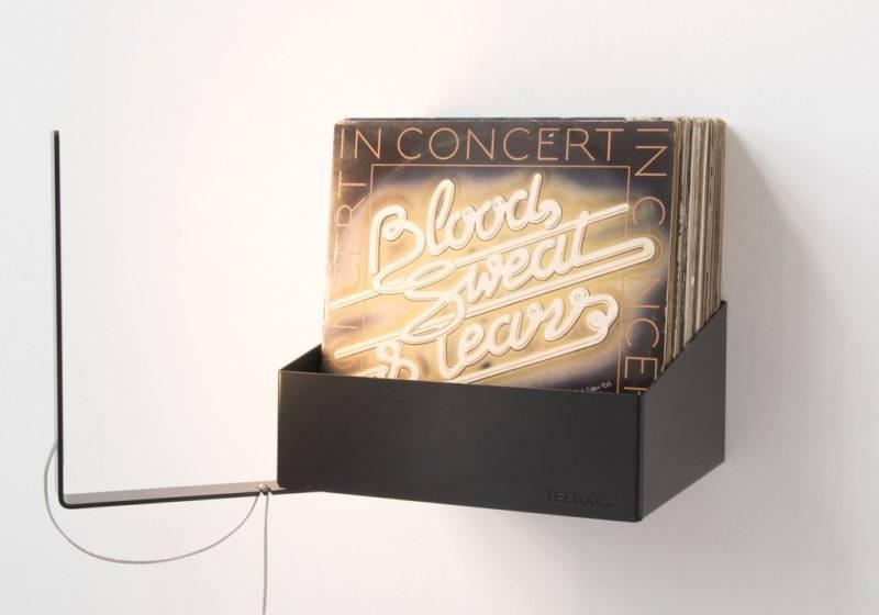 Porta vinili da parete pannelli decorativi plexiglass - Mobile porta dischi vinile ...
